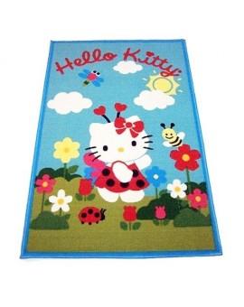 Tappeto HELLO KITTY, camera bambina misura 120X80 Azzurro Stock