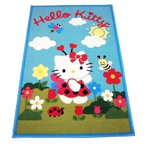 Offerte pazze Comparatore prezzi  Tappeto Hello Kitty Camera Bambina Misura 120x80 Azzurro Stock  il miglior prezzo