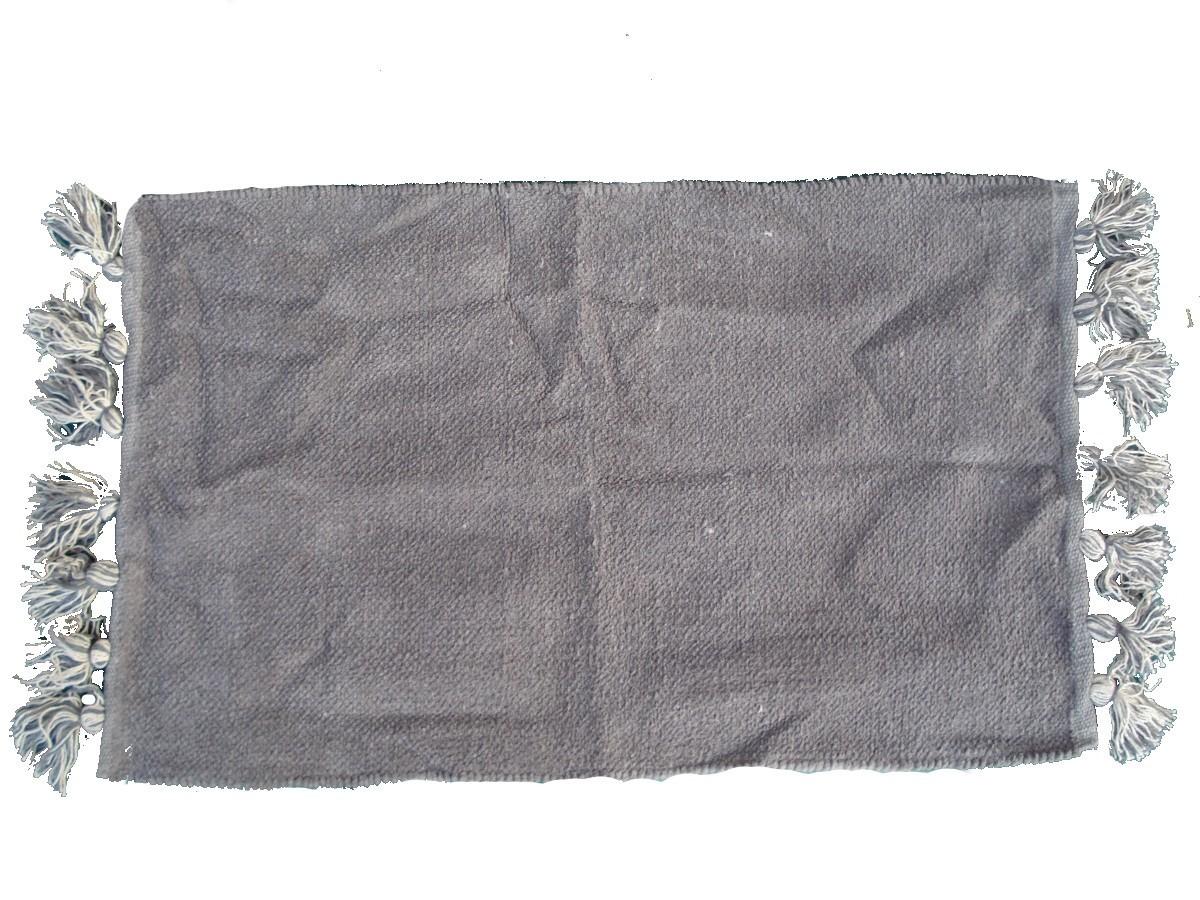 Tappeto Con Frange 50x80 Bagno Sala 100 Cotone Stock Grigio