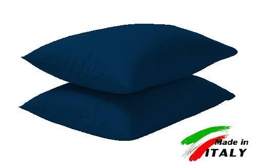 Arreda il tuo letto con federe e lenzuola BLU in tinta unita in puro cotone