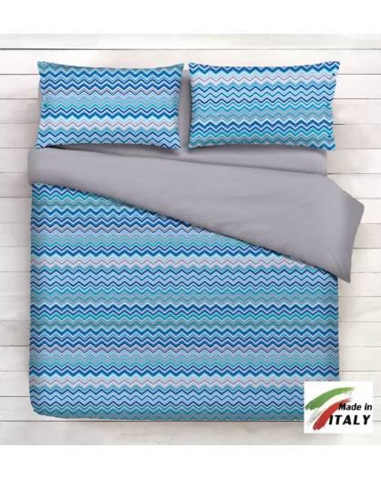 Coordina le tue lenzuola abbinandole a copriletti gran foulard e federe blu