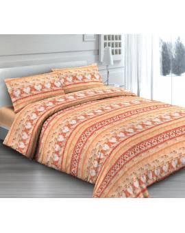 Rendi unica la tua stanza con Lenzuola effetto Batik Arancio Made in Italy
