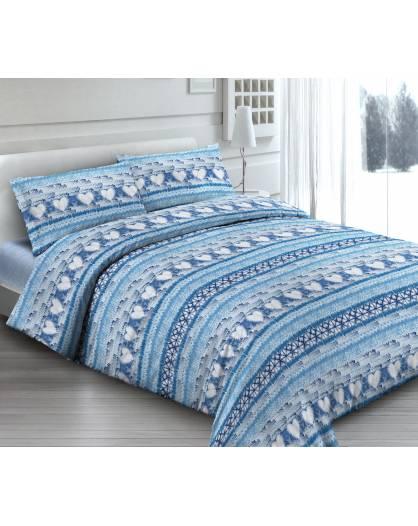 Rendi unico il tuo letto con Lenzuola effetto Batik BLU Made in Italy in cotone
