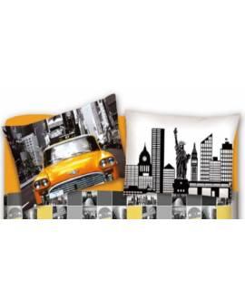 Il letto con fantasia New York lenzuola maxi per letti matrimoniali singoli