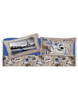 Il letto con fantasia Parigi lenzuola maxi per letti matrimoniali singoli