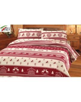 Coordina lenzuola trapunte copri piumino federe con disegno tirolese
