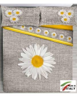 Lenzuolo Copriletto per letto Matrimoniale Made in Italy Margherita