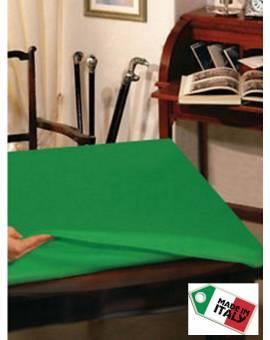 Mollettone Verde proteggi Tavolo QUADRATO cm 140x140 con elastico made Italy