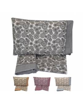 Completo lenzuola letto matrimoniale Puro cotone 100% fantasia stile Desigual