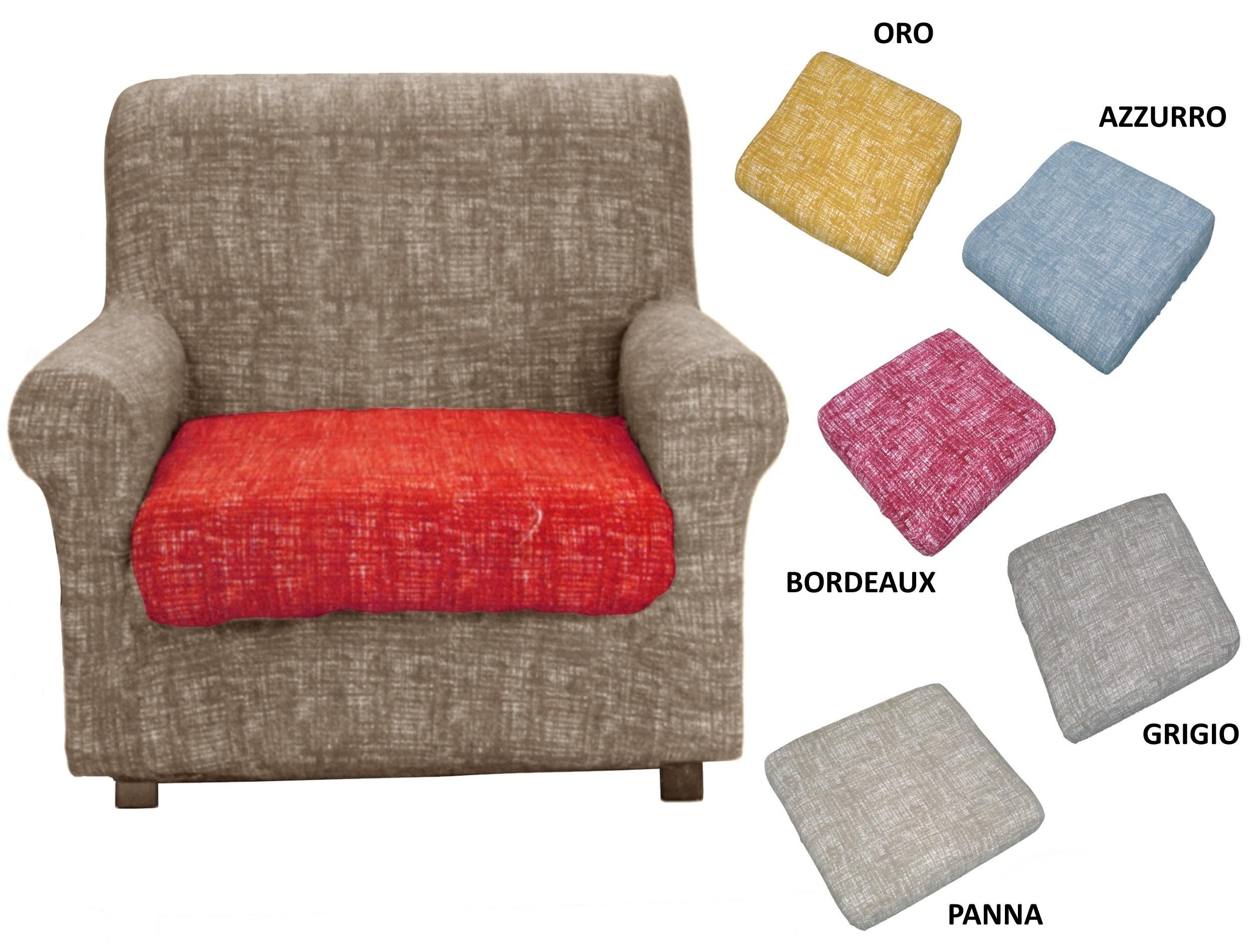 Copridivano Copriseduta copri cuscino, divani angolari, Copripoltrona 2 PEZZI