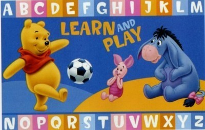 Tappeto Camera Disney Antiscivolo Winnie Pooh Pimpy Ih Oh Alfabeto Ide
