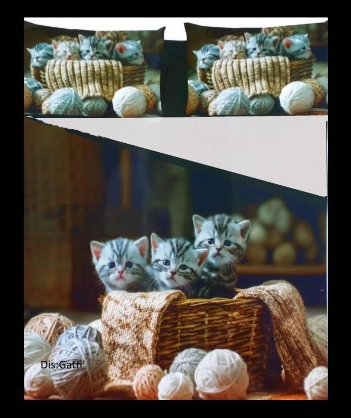 Parure Copripiumino Sacco Letto Singolo Microfibra Cuccioli Gatti