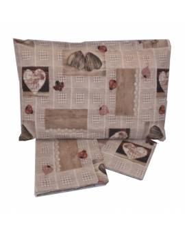 Completo lenzuola letto una piazza fantasia vintage Puro cotone 100% Sottocosto