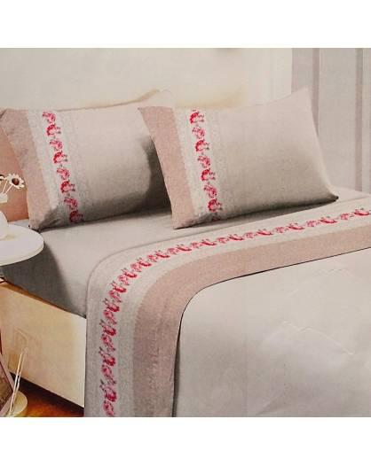 Completo Letto matrimoniale FLANELLA 100% cotone made in ITALY