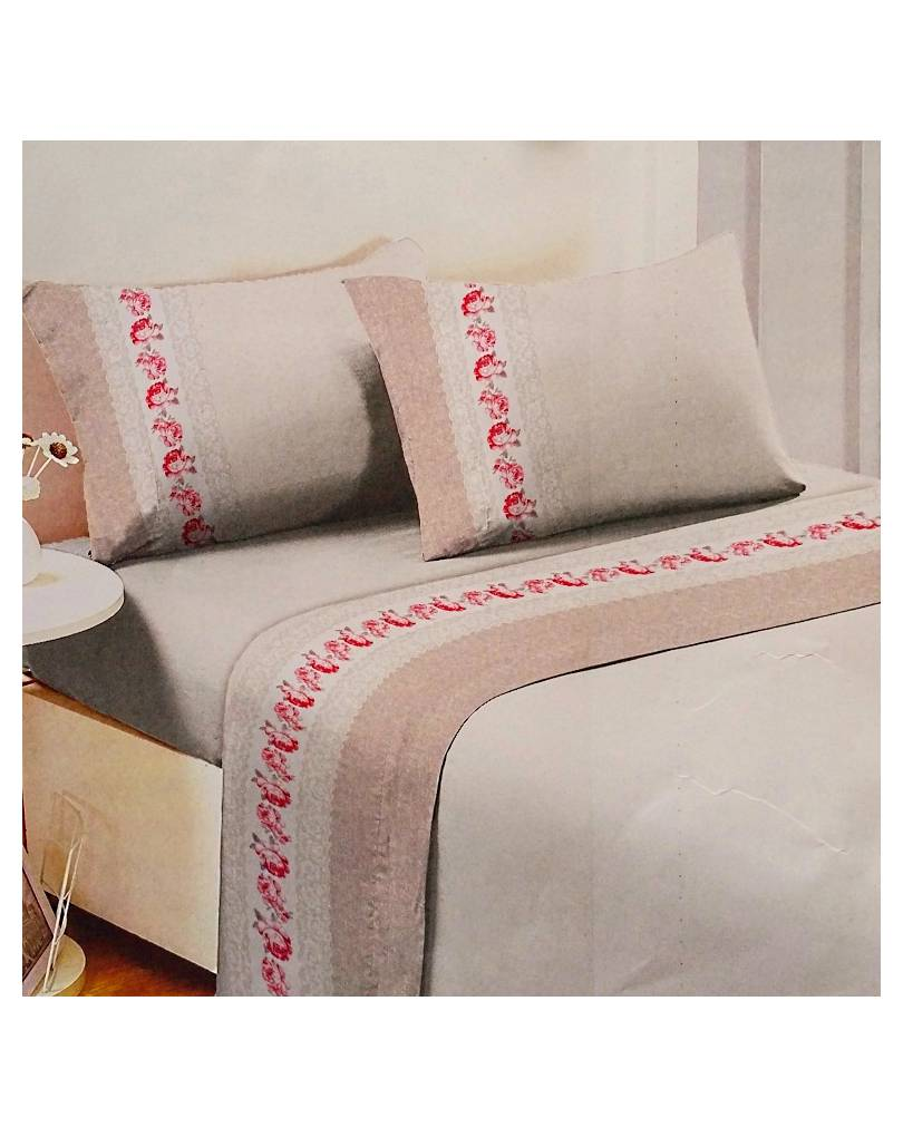Completi lenzuola matrimoniali FLANELLA 100% cotone Made in Italy