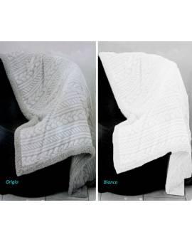 Coperta matrimoniale morbido PLAID Luxury treccia tipo lana merinos
