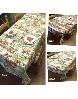 Tovaglia copritavolo natale rettangolare 12 posti servizio tavola idea regalo