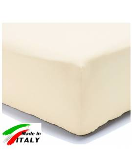 Lenzuolo Angolo con Elastici Baby per Lettino Made in Italy Percalle PANNA