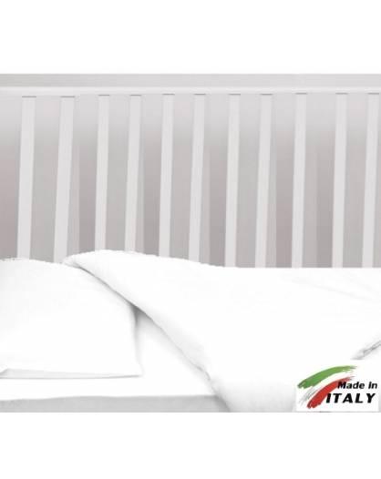 Completo Lenzuola Letto Baby per Lettino Prodotto in Italia BIANCO