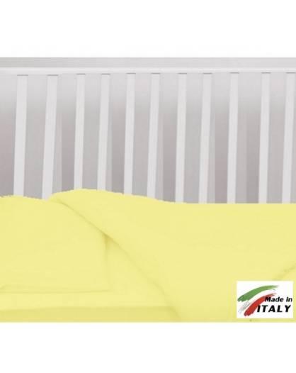 Completo Lenzuola Letto Baby per Lettino Prodotto in Italia GIALLO