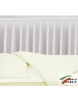 Completo Lenzuola Letto Baby Per Lettino Prodotto In Italia Panna