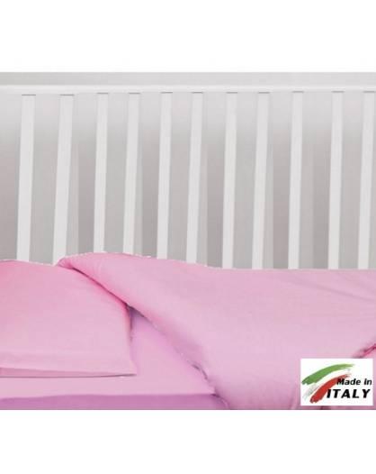 Completo Lenzuola Letto Baby per Lettino Prodotto in Italia ROSA