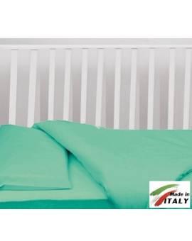 Completo Lenzuola Letto Baby Per Lettino Prodotto In Italia Verde