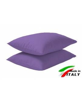 Coppia Federe Guanciale Federe Maxi Puro Cotone Made in Italy LILLA