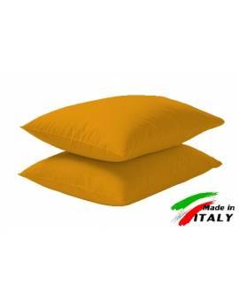 Coppia Federe Guanciale Federe Maxi Puro Cotone Made in Italy OCRA