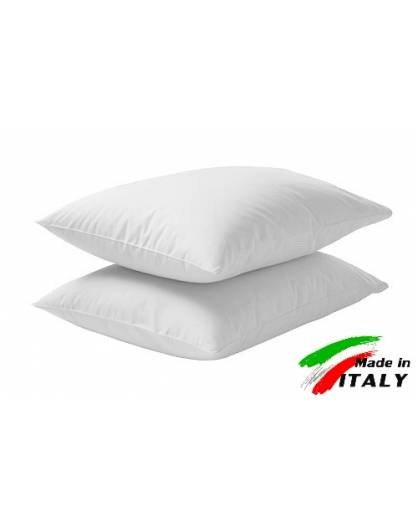 Coppia Federe Guanciale Federe Standard Made in Italy Puro Cotone BIANCO