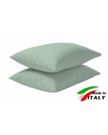 Coppia Federe Guanciale Federe Standard Made in Italy Puro Cotone VERDE