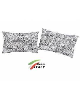 Coppia Federe Guanciale Federe Standard Made in Italy Percalle di Cotone SAFARI