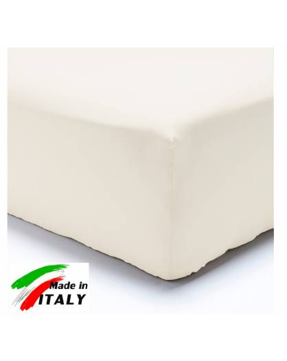 Lenzuolo Angolo con Elastici Francese Prodotto italiano in Percalle BIANCO