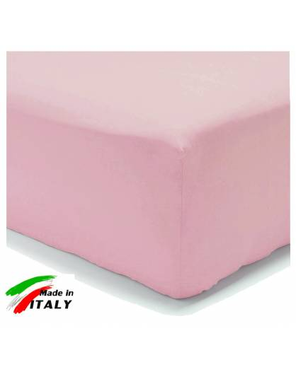 Lenzuolo Angolo con Elastici Francese Prodotto italiano in Percalle ROSA