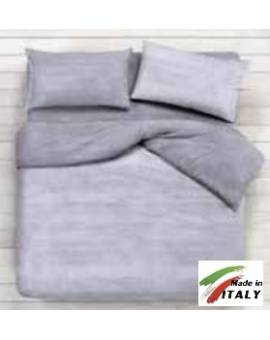 Lenzuolo Angolo con Elastici Matrimoniale Lenzuolo Made in Italy Cotone BON-BON-GRIGIO