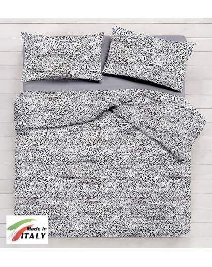 Lenzuolo Angolo con Elastici Matrimoniale Lenzuolo Made in Italy Cotone SAFARI