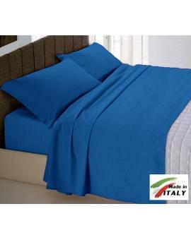 Completo Lenzuola Letto Matrimoniale Made in Italy Puro Cotone AVIO