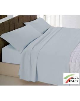Completo Lenzuola Letto Matrimoniale Made in Italy Puro Cotone GRIGIO