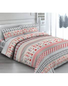 Completo Lenzuola Letto Matrimoniale Made In Italy Puro Cotone Follett