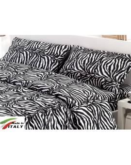 Copritrapunta Matrimoniale Prodotto In Italia Percalle Di Cotone Zebra
