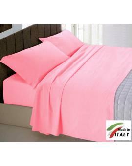 Parure Sacco Copripiumino Matrimoniale Made in Italy Percalle di Cotone ROSA