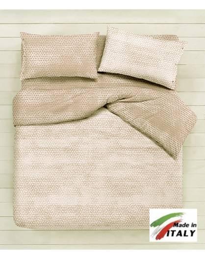 Copripiumino Cotone Matrimoniale.Parure Copripiumino Made In Italy 100 Cotone Fantasia Bon Bon Beige