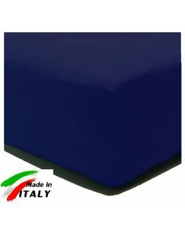 Lenzuolo Angolo con Elastici Matrimoniale Maxi Prodotto In Italia Percalle di Cotone BLU