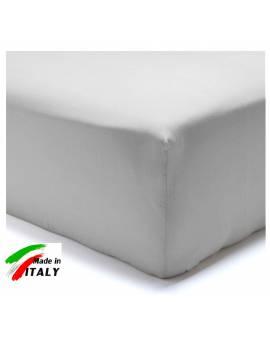 Lenzuolo Angolo con Elastici Matrimoniale Maxi Prodotto In Italia Percalle di Cotone GRIGIO