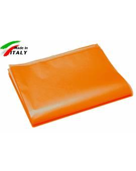 Lenzuolo Sopra Piano Una Piazza Made In Italy Puro Cotone Arancio