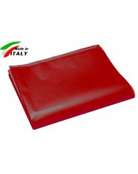 Lenzuolo Sopra Piano Una Piazza Made In Italy Puro Cotone Rosso