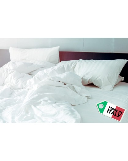 Piumino Bianco letto singolo microfibra anallergico made in Italy