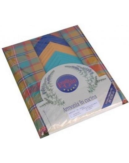 Tovaglia 140x450 scozzese cena servizio 24 tovaglioli 100% cotone cucina