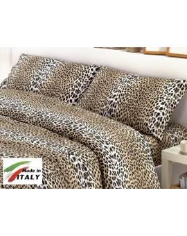Completo Lenzuola Letto Una Piazza Percalle di Cotone Made in Italy MACULATO