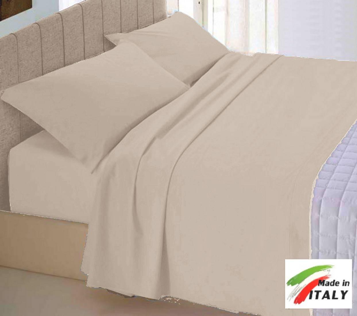 Parure Copripiumino Made in Italy 100% cotone Tinta Unita